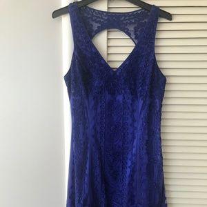 Sue Wong Royal Blue Knight Cocktail Dress Size 14